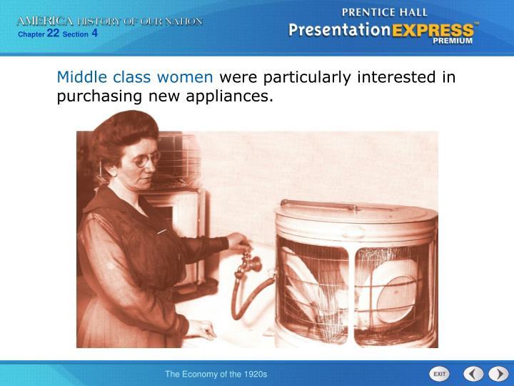 Middle class women