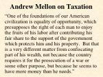 andrew mellon on taxation
