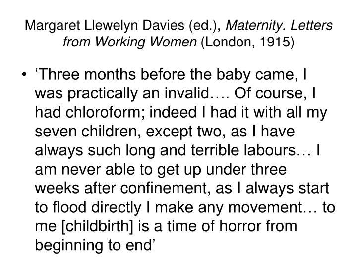 Margaret Llewelyn Davies (ed.),