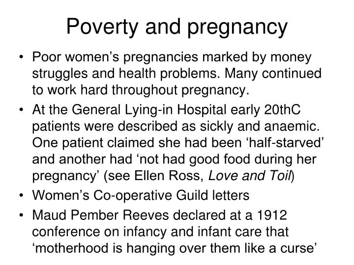 Poverty and pregnancy