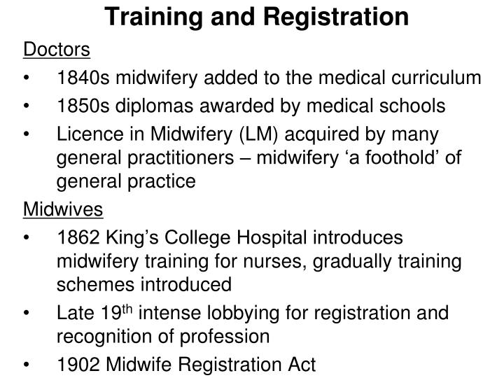 Training and Registration