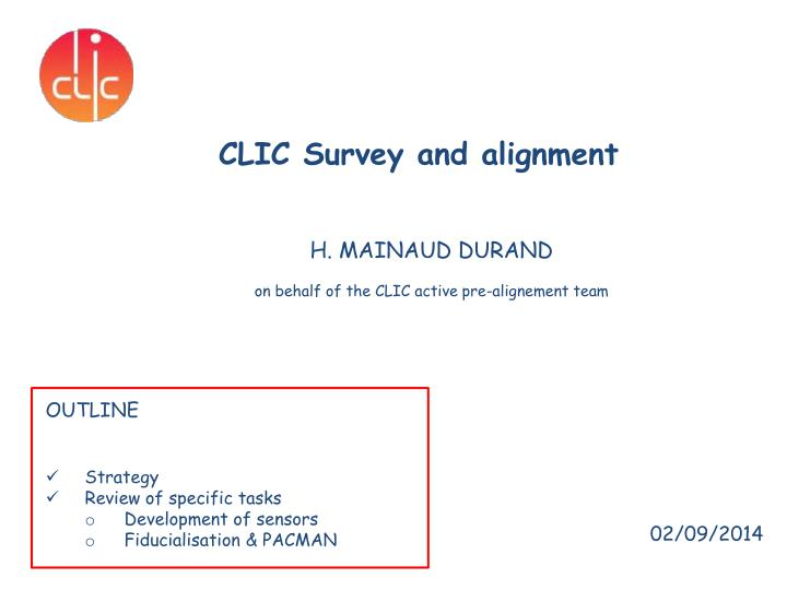 clic survey and alignment n.