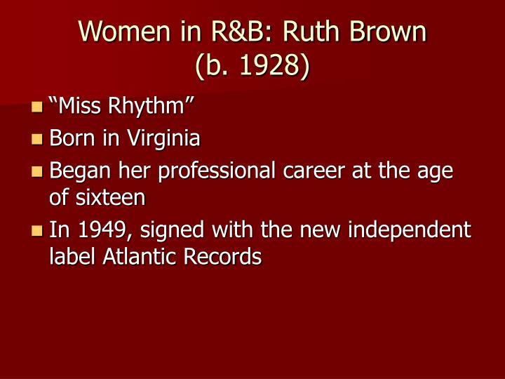 Women in R&B: Ruth Brown