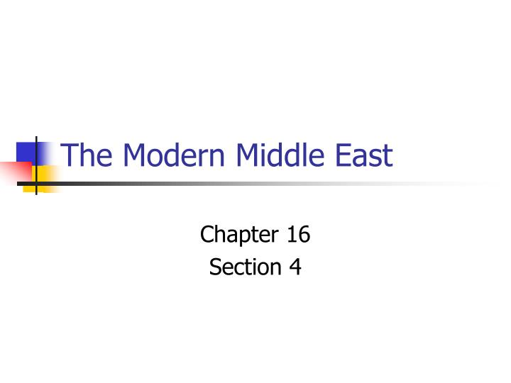 the modern middle east n.