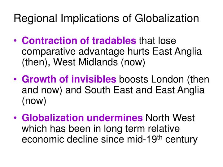 Regional Implications of Globalization