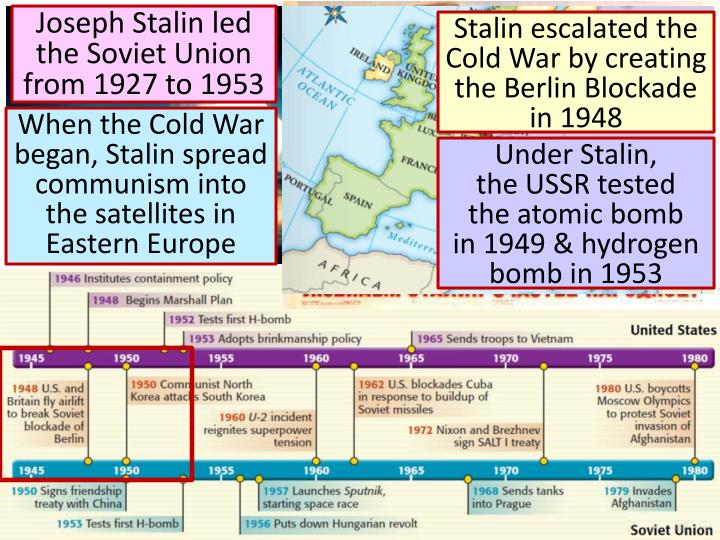 the events that led to the cold war The cold war bagan after the second world war, but tension between the soviet union and the united states began long before the world war ii those old tensions led to the cold war that followed after the second world war it was two main event th.