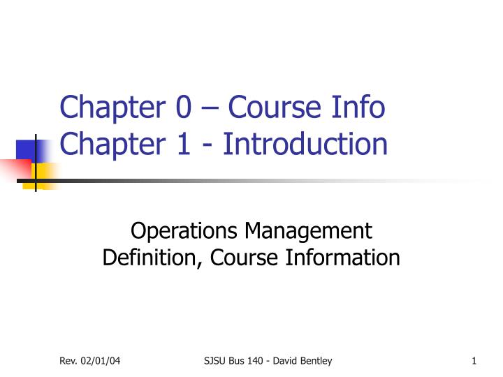 chapter 0 course info chapter 1 introduction n.