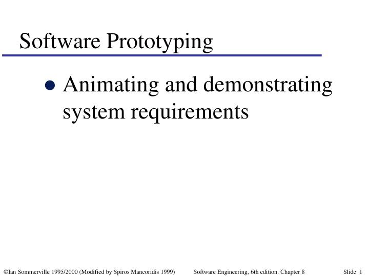 software prototyping n.