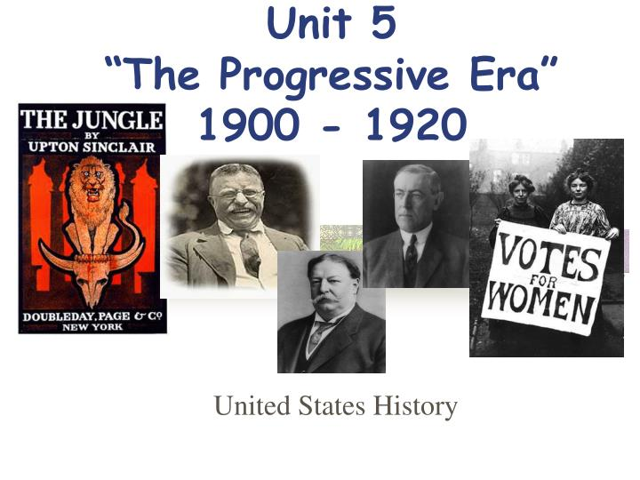 the people in control of the society during the progressive era