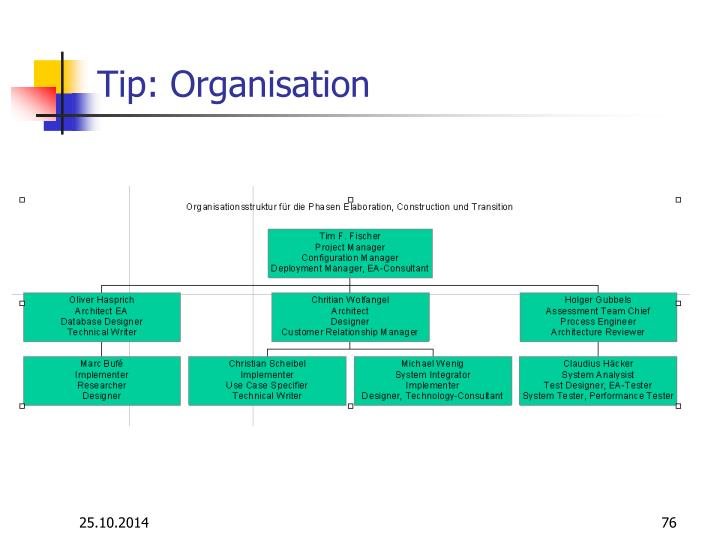 Tip: Organisation