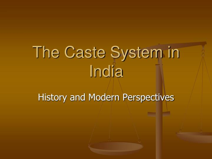 the caste system in india n.