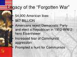 legacy of the forgotten war