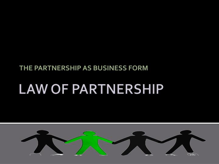 the partnership as business form n.