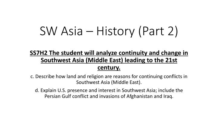 sw asia history part 2 n.