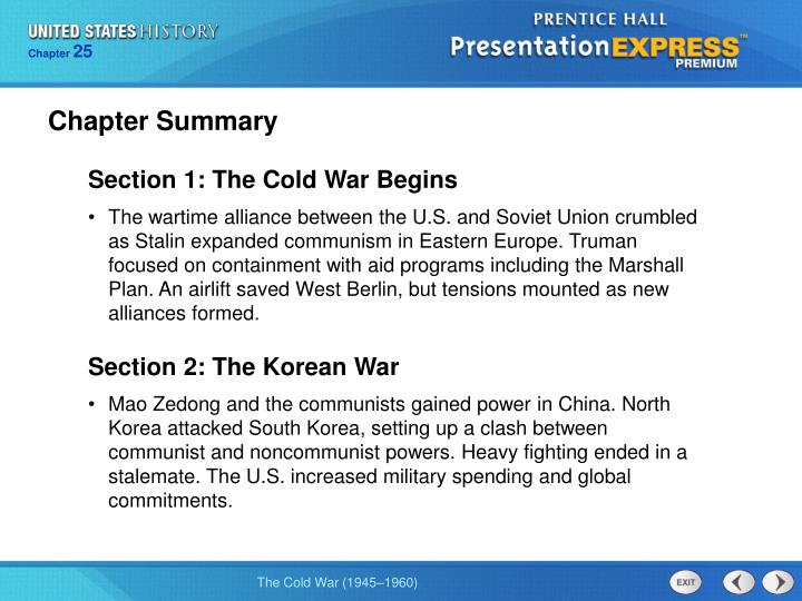 a summary of the cold war Overview of the vietnam war and at this time period, the united states is starting to think in terms of the cold war and in terms of, how do we stop communism.