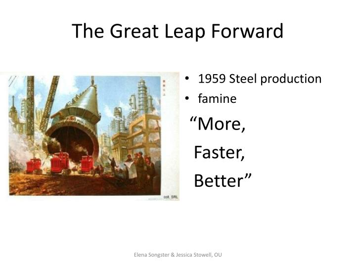 an overview of the great leap forward campaign