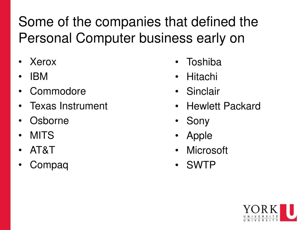 PPT - A short and condensed history of computing Part II