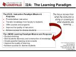 i 2a the learning paradigm