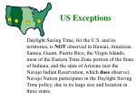 us exceptions