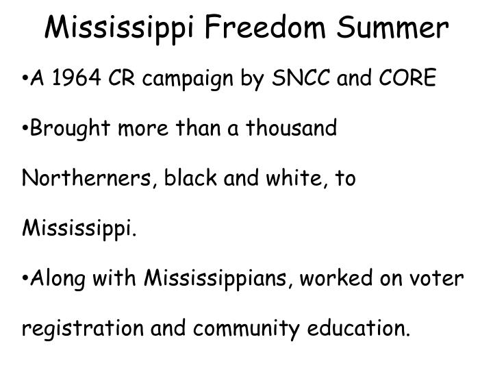 mississippi freedom summer n.