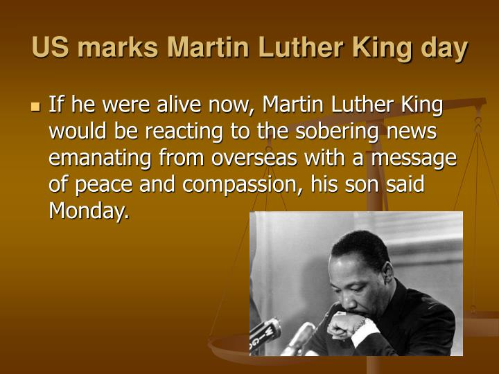 US marks Martin Luther King day