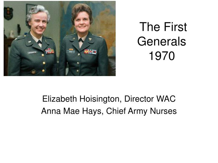 the first generals 1970 n.