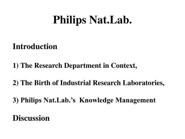 Philips nat lab