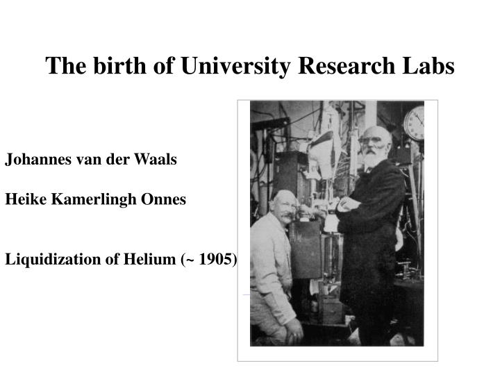 The birth of University Research Labs