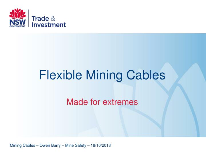 flexible mining cables n.