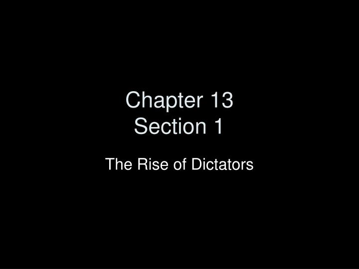 chapter 13 section 1 n.