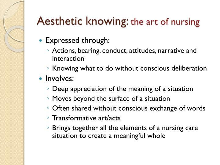 patterns of knowing in nursing essay