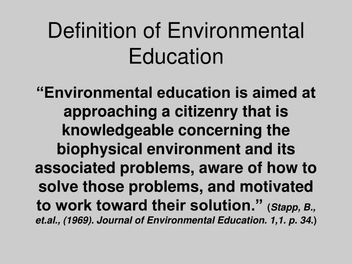 Definition of Environmental Education