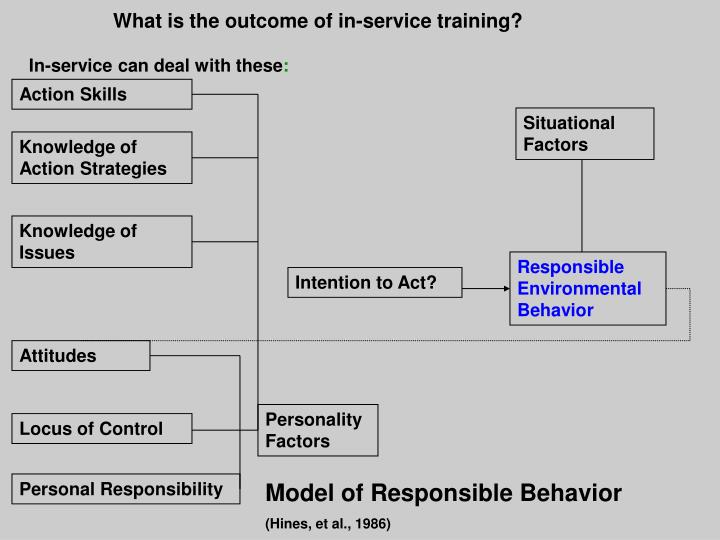 What is the outcome of in-service training?