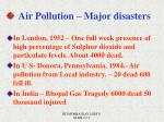 air pollution major disasters