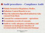 audit procedures compliance audit