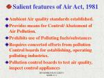 salient features of air act 1981