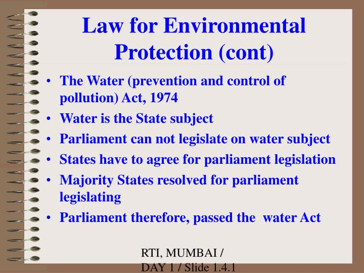 water prevention and control of pollution act