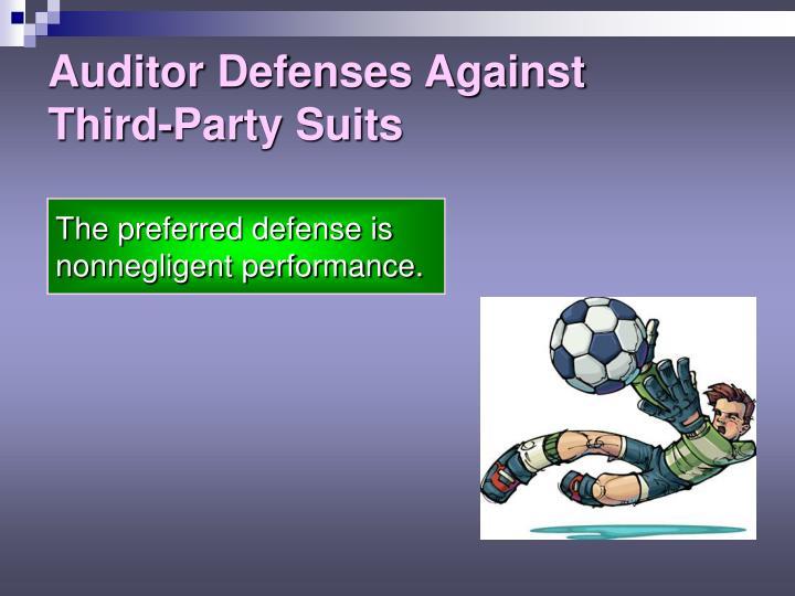 Auditor Defenses Against