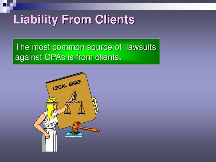 Liability From Clients