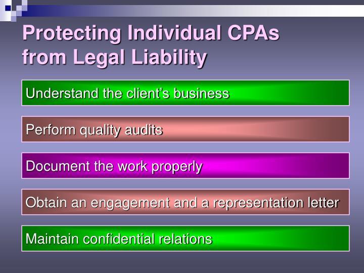 Protecting Individual CPAs