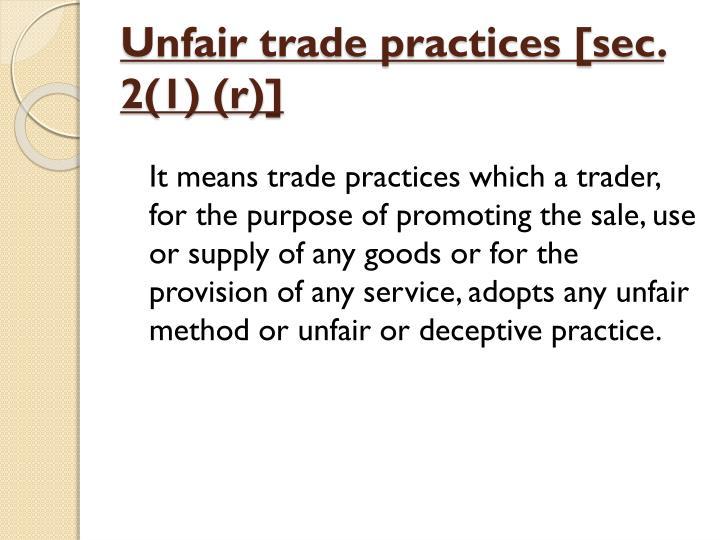 unfair trade practises