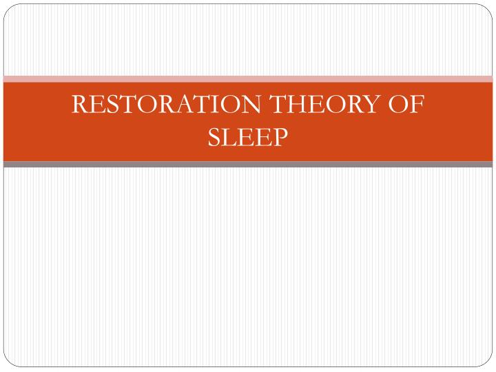 theories for the function of sleep