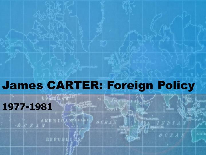 james carter foreign policy n.
