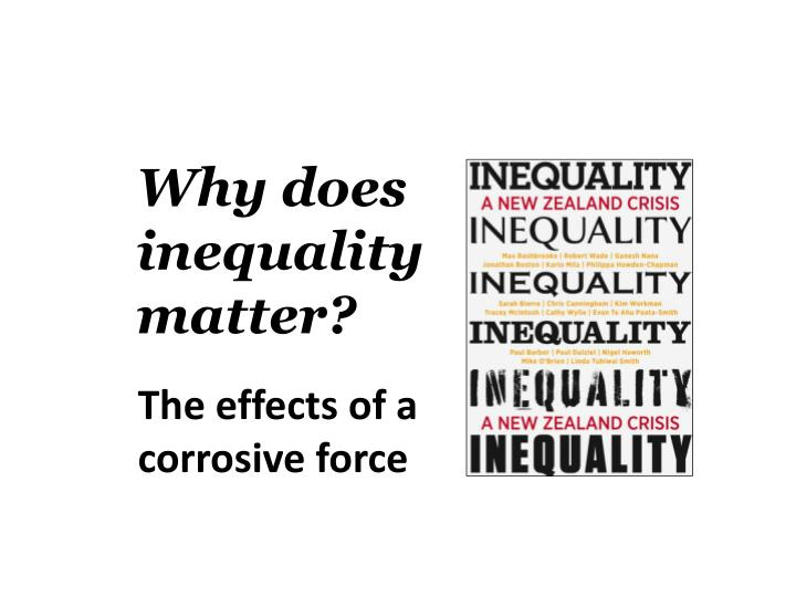 does inequality matter