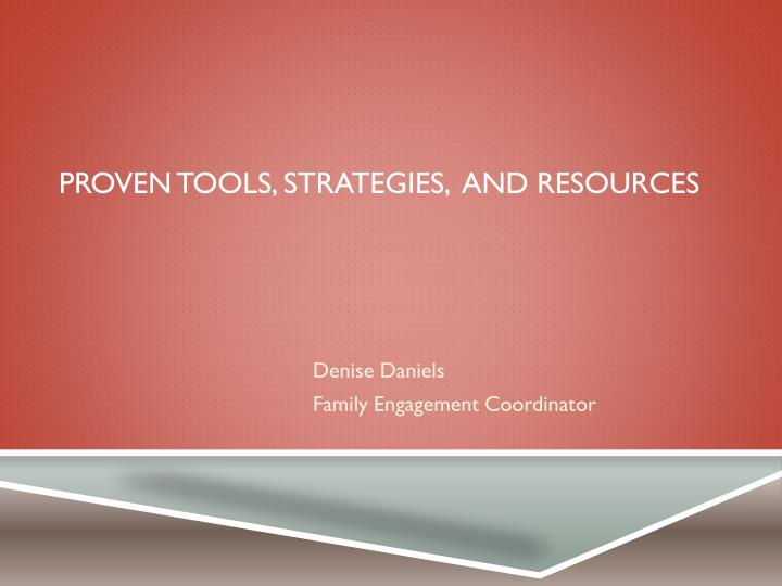 proven tools strategies and resources n.