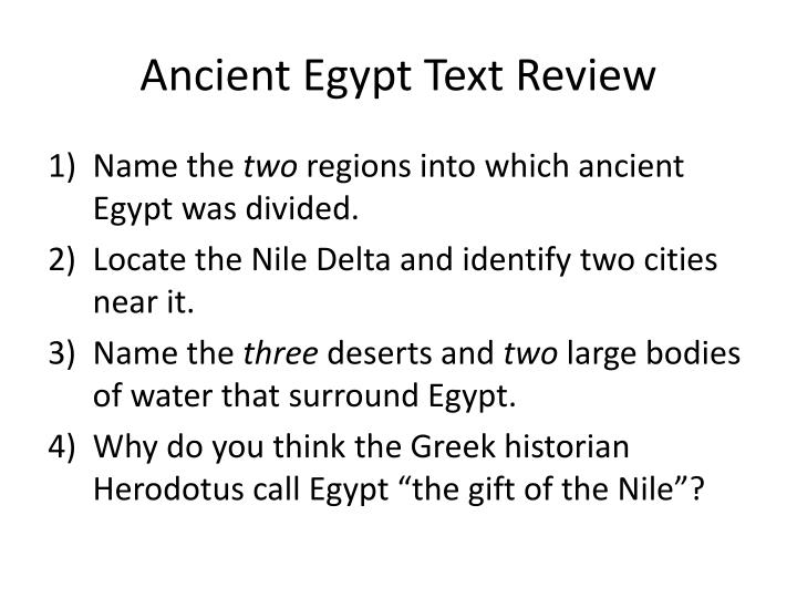 ancient egypt text review n.