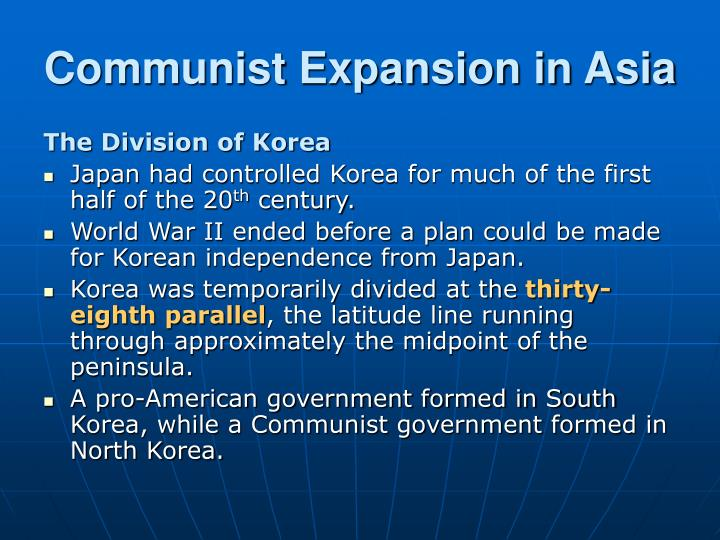Communist Expansion in Asia