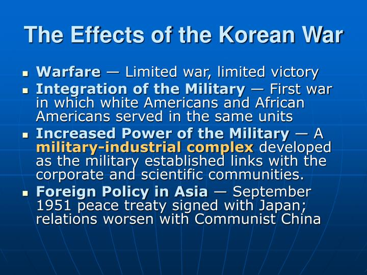 The Effects of the Korean War