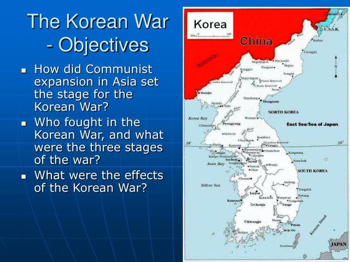 The korean war objectives