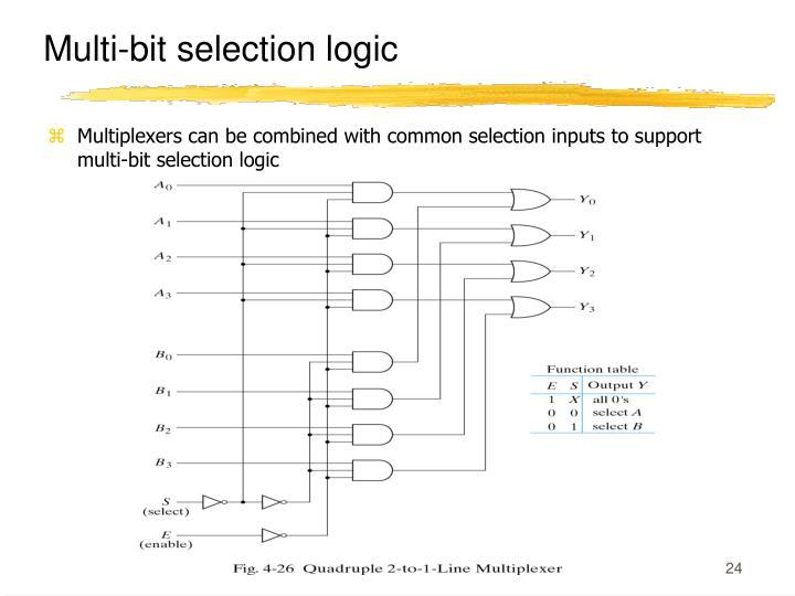 Multi-bit selection logic